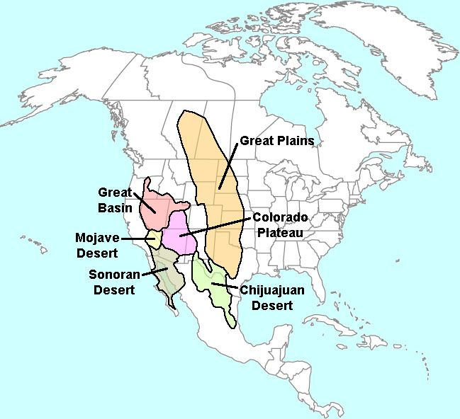 Deserts Of North America Desert Heart Pinterest And: Physical Map Of North America With Deserts At Usa Maps