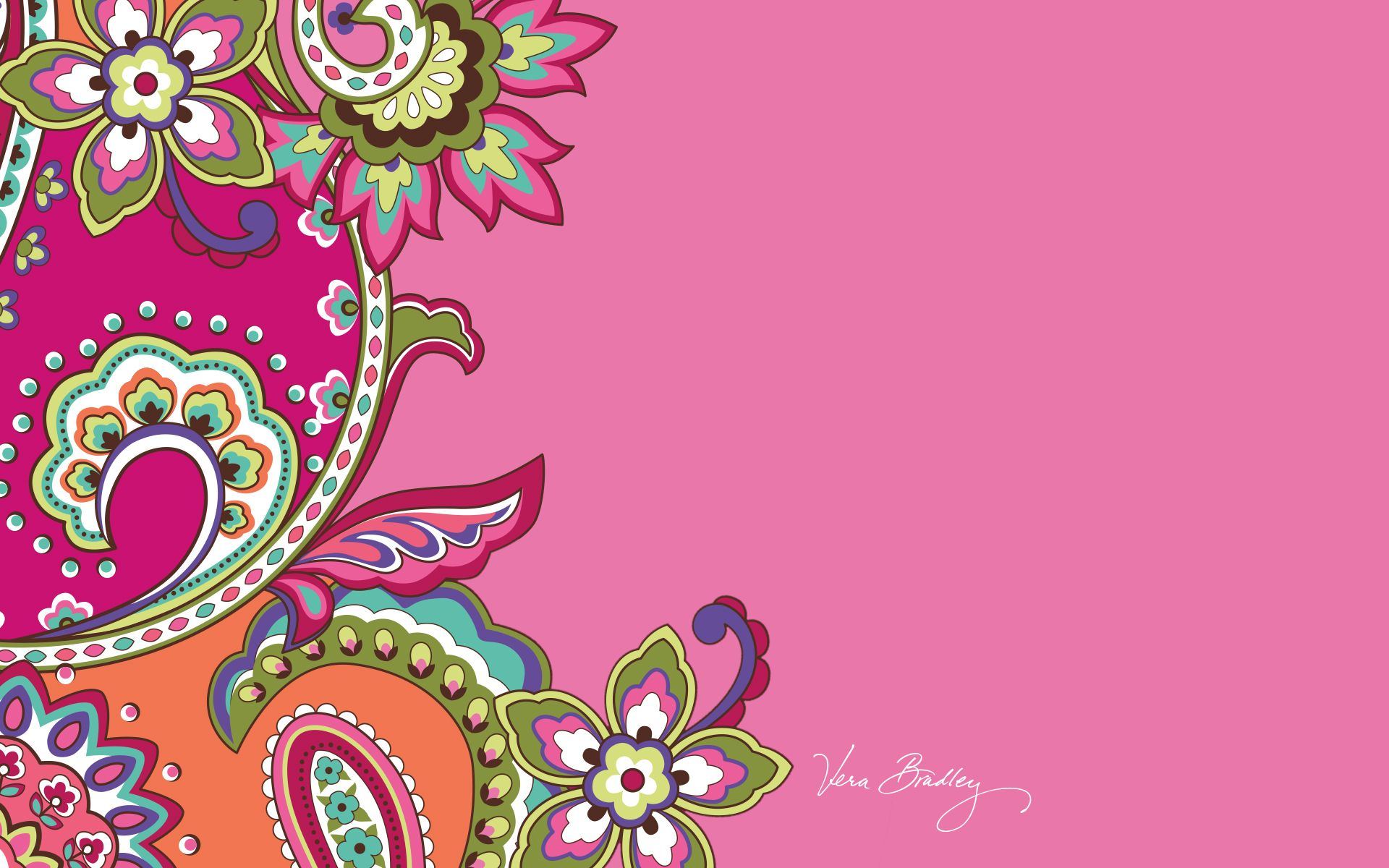 Dress Your Tech Pink Swirls Desktop Wallpaper Vera Bradley Tech
