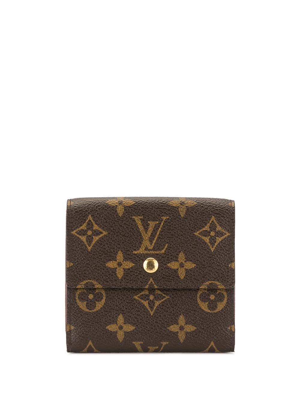 Louis Vuitton Pre Owned Monogram Flap Wallet Brown Louis Vuitton Louis Vuitton Accessories Louis Vuitton Wallet Monogram