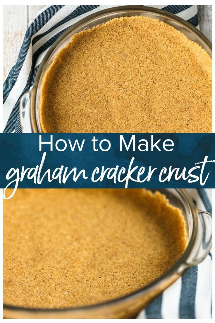 Graham Cracker Crusts add such a fun flavor and texture to cheesecakes and pies. This homemade graham cracker crust recipe is so easy to make, and doesn't require any baking. It's perfect for no bake desserts and makes for a special holiday treat! #grahamcrackers #piecrust via @beckygallhardin