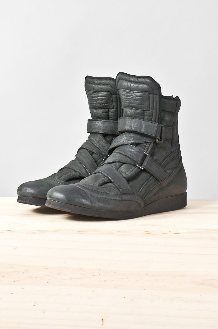 Strapped Back Zip High Top Trainer Re Porter Shoes