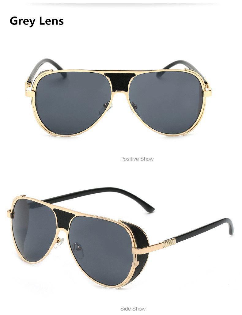 d8ffac8b44 2017 The Fashion Square Sunglass Men Steampunk Sunglasses Women Luxury  Brand Designer Vintage Sun Glasses Oculos