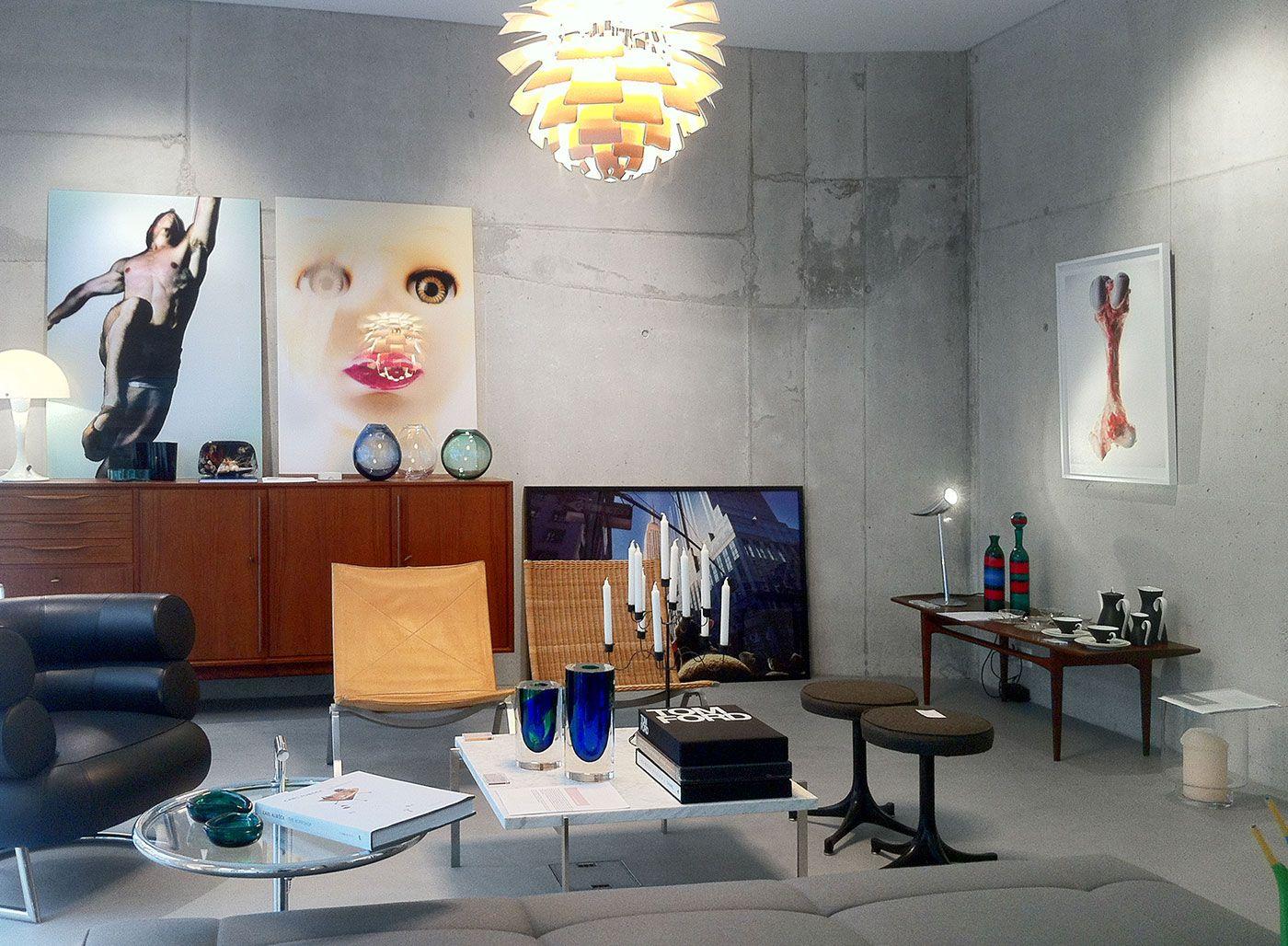 Wohnzimmer Galerie Zurich Kunstausstellungen Vintage Mobel