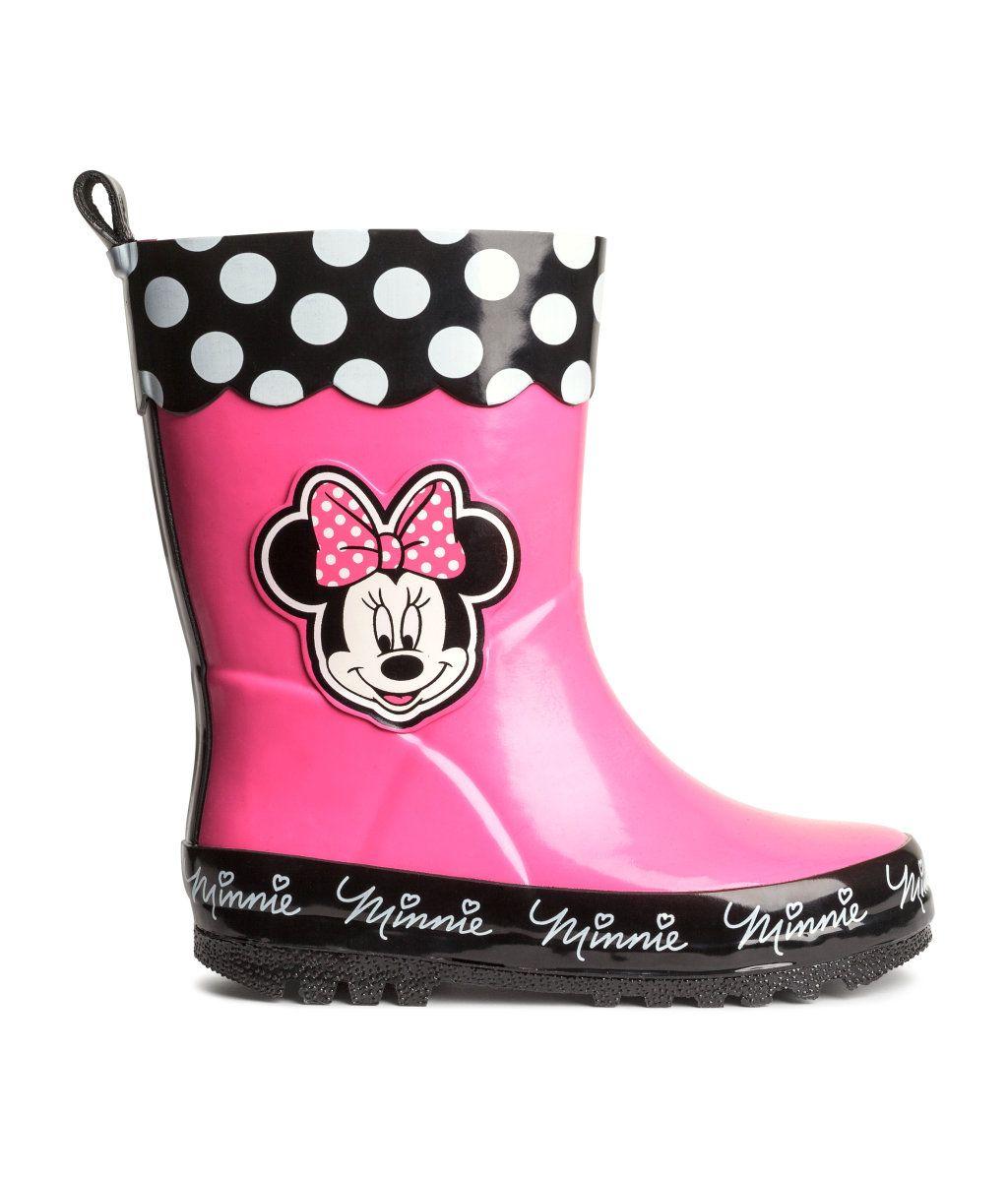 f03c9f1ce2e Minnie Mouse Rain Boots | H&M | Disney | Kids rain boots, Kids coats ...