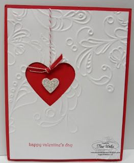 the serene stamper stampin up valentine card