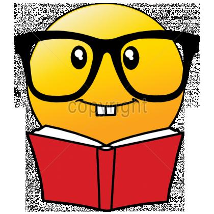Book Emoji 8x9 Emoji Reading Book With Glasses Book