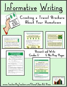 in this research and writing resource students create a travel brochure based on the attractions