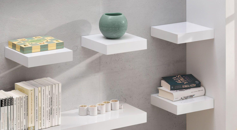 Eckregal für Küche und Wohnzimmer, in weiß oder Holz