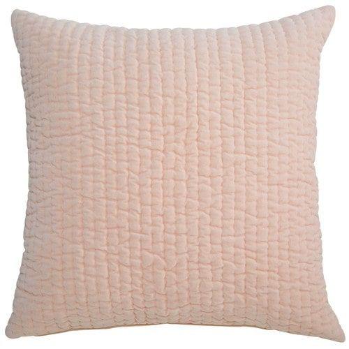 Coussin piqué en coton rose 60x60cm