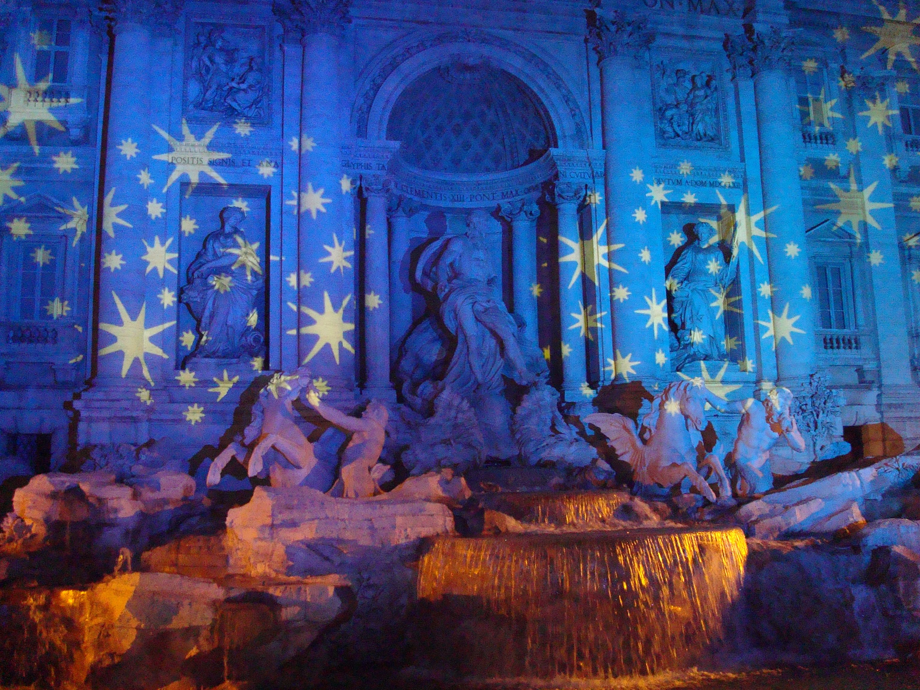Trevi Fountain by night in Rome