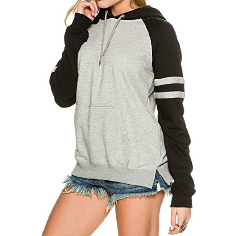 X-Future Women Pockets Drawstring Basic Fleece Hoodie Pullover Sweatshirt