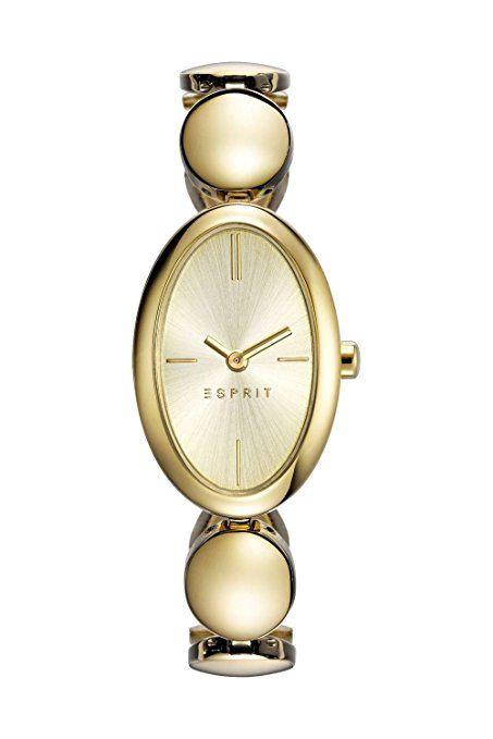 2217c1acf4b37 Esprit Damen-Armbanduhr ES-ALLIE GOLD Analog Quarz Edelstahl ES108592002
