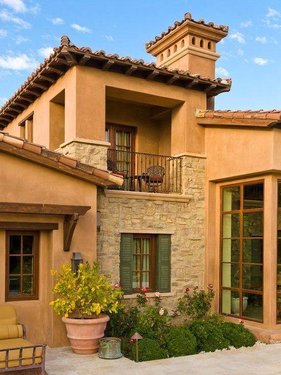 Fachadas de casas mediterranea i construir balc n - Colores fachadas casas de campo ...