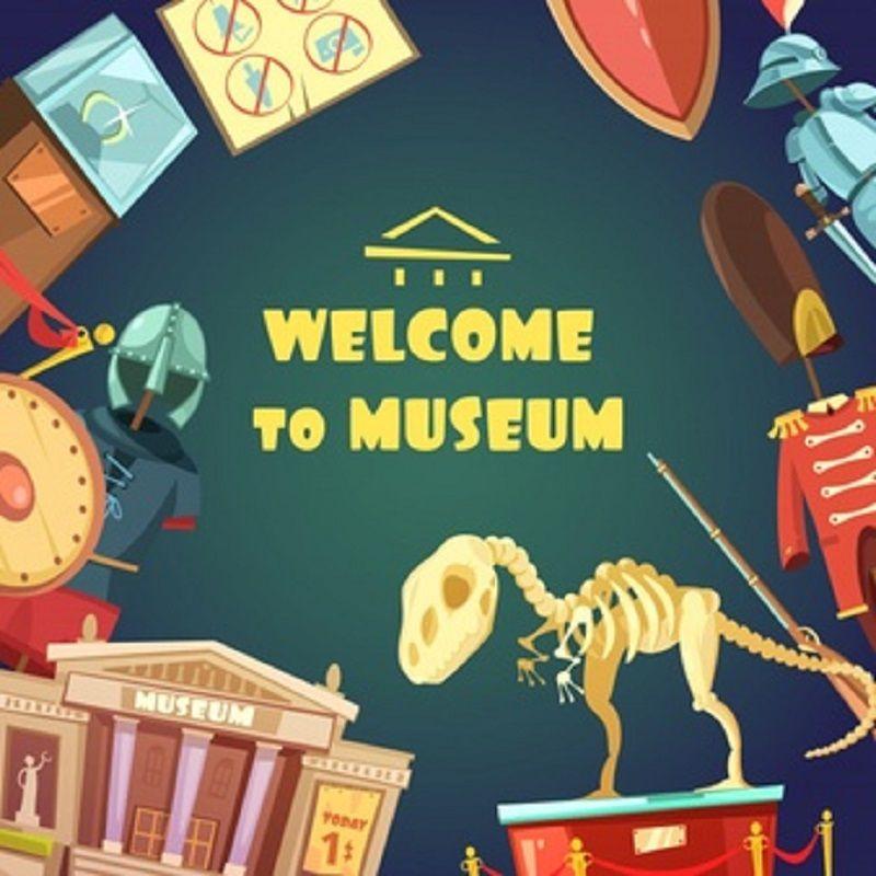 Museology (Study) Cartoon museum, Vector free, Museum