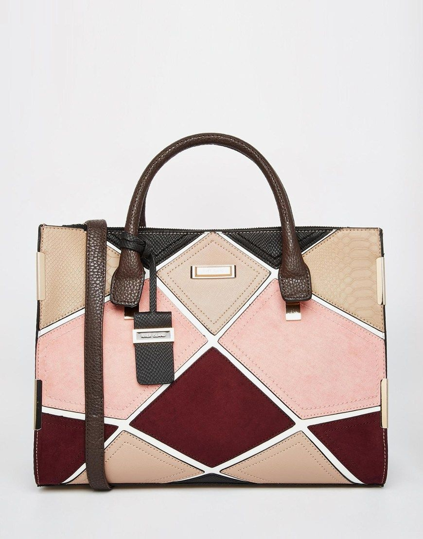 River Island Patchwork Tote Bag