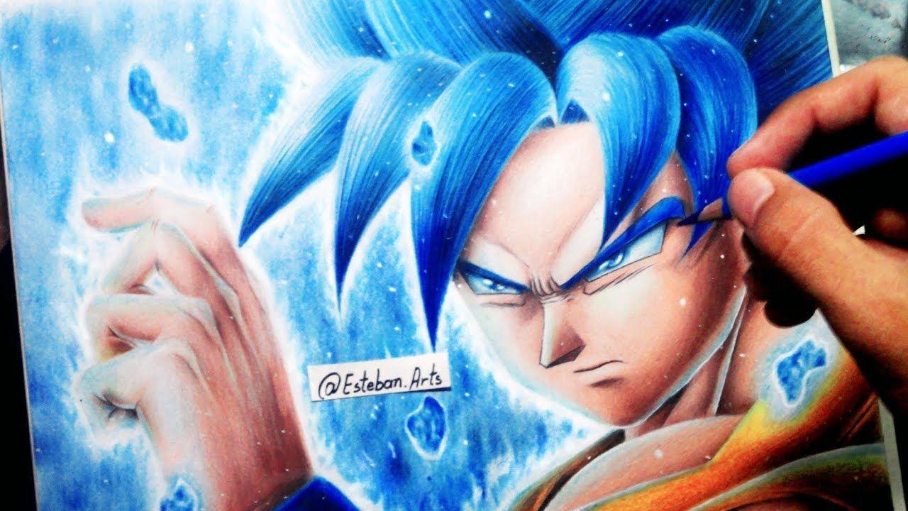 Como Dibujar A Goku Ssj Dios Azul Ssj God Blue Dragon Ball Super Como Dibujar A Goku Goku Ssj Dios Azul Dibujar Pelo