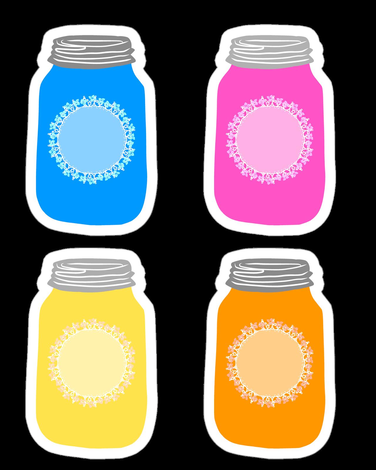 Colorful Mason Jar Tag Collection Free Printable Con