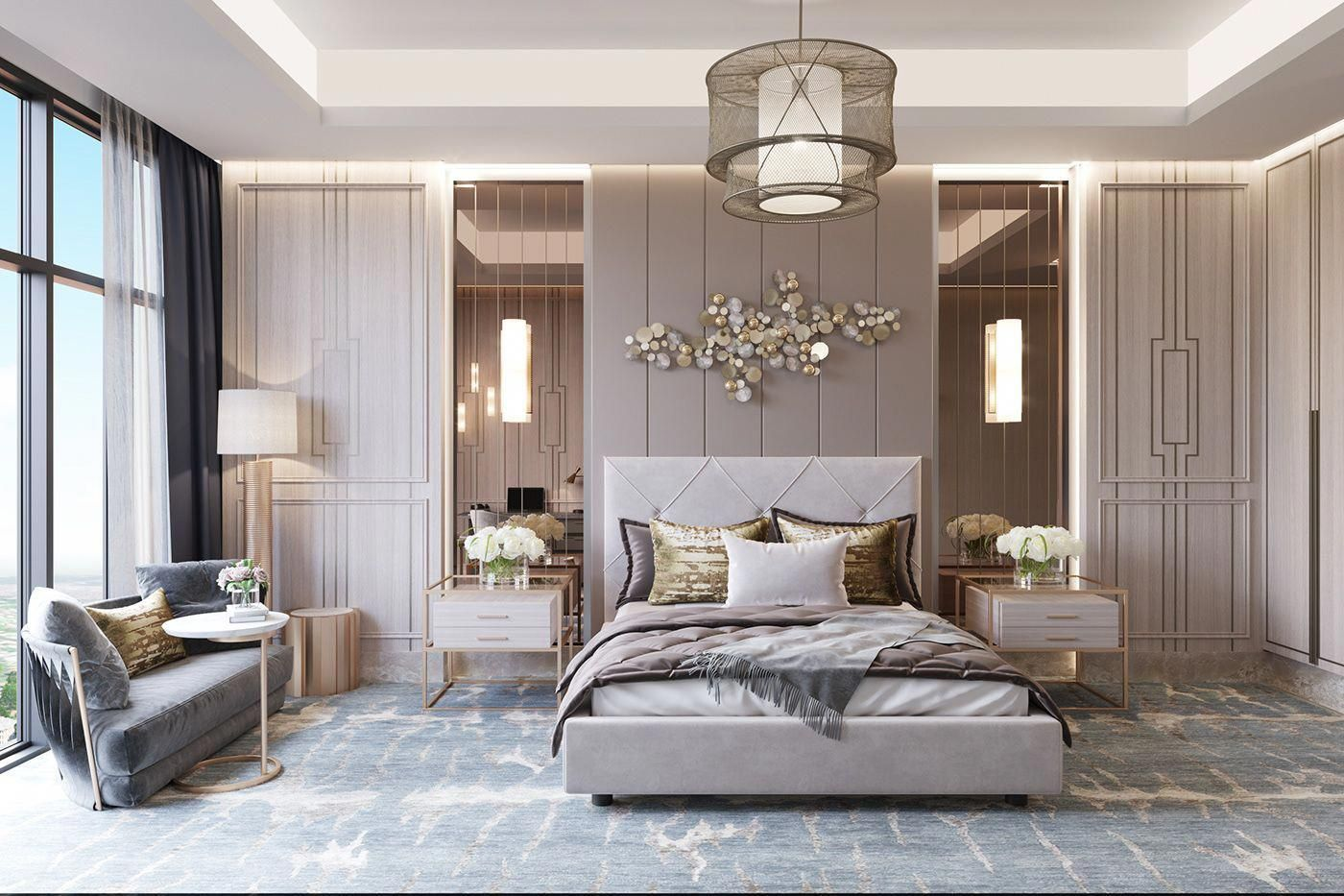 Green Bedroom Greenbedroom Kidsbedroom Apartmentbedroom In 2020 Modern Luxury Bedroom Luxurious Bedrooms Luxury Bedroom Master