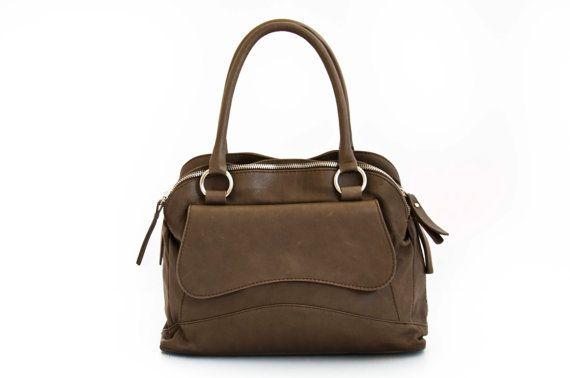 Handmade Tote Bag, Soil Italian Leather Purse, Designer Leather Handbag -.- the Huaka -.- new collection on Etsy, $199.00