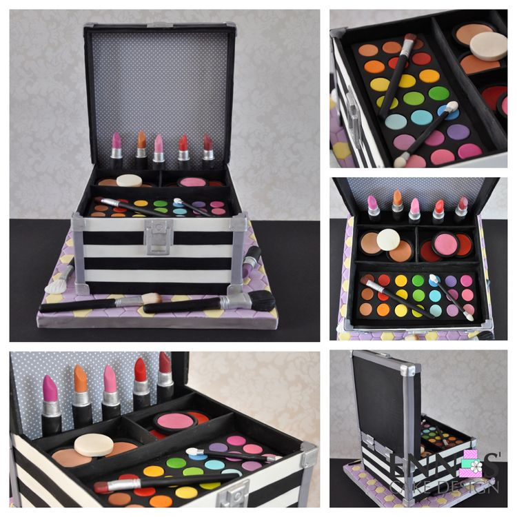 Makeup Kit Cake Design : Makeup Case Cake Tutorial In this tutorial you ll find ...