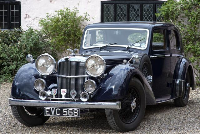 The last car produced,1940 Alvis Speed Twenty-Five SC Saloon  Chassis no. 14688 Engine no. 15172