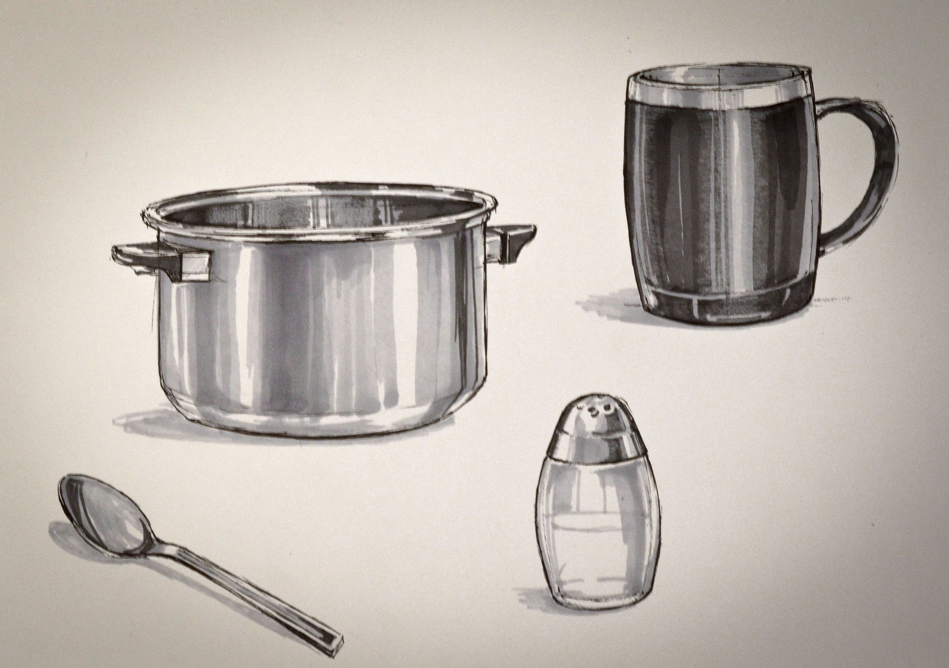 Iuliia Kalichkina (School of Form) product sketches