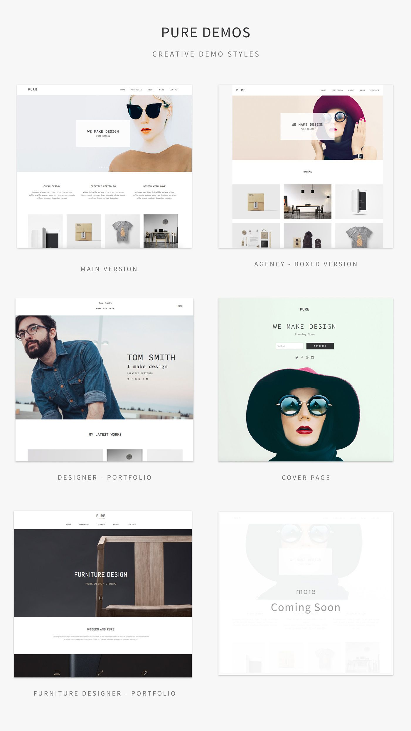 Pure responsive creative portfolio muse template pure creative pure is a modern and clean adobe muse template designed for portfolio creative photography landing maxwellsz