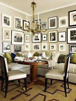 Love this corner dining area