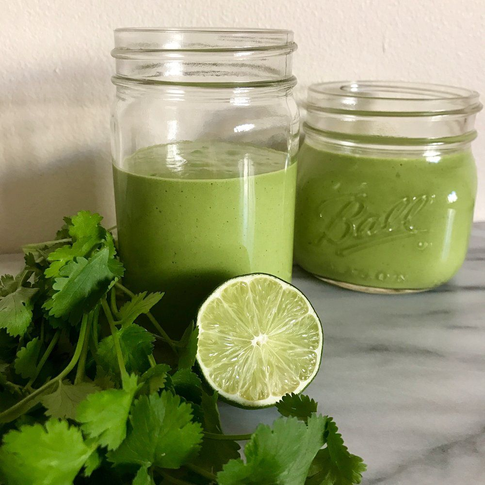 Mango Madness Smoothie with Lime and Cilantro for a dairy
