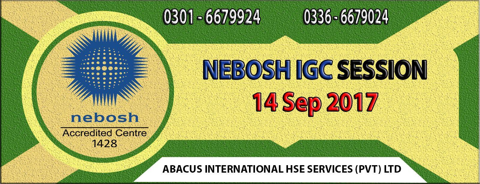 NEBOSH IGC Course in Lahore Pakistan Lahore, Courses