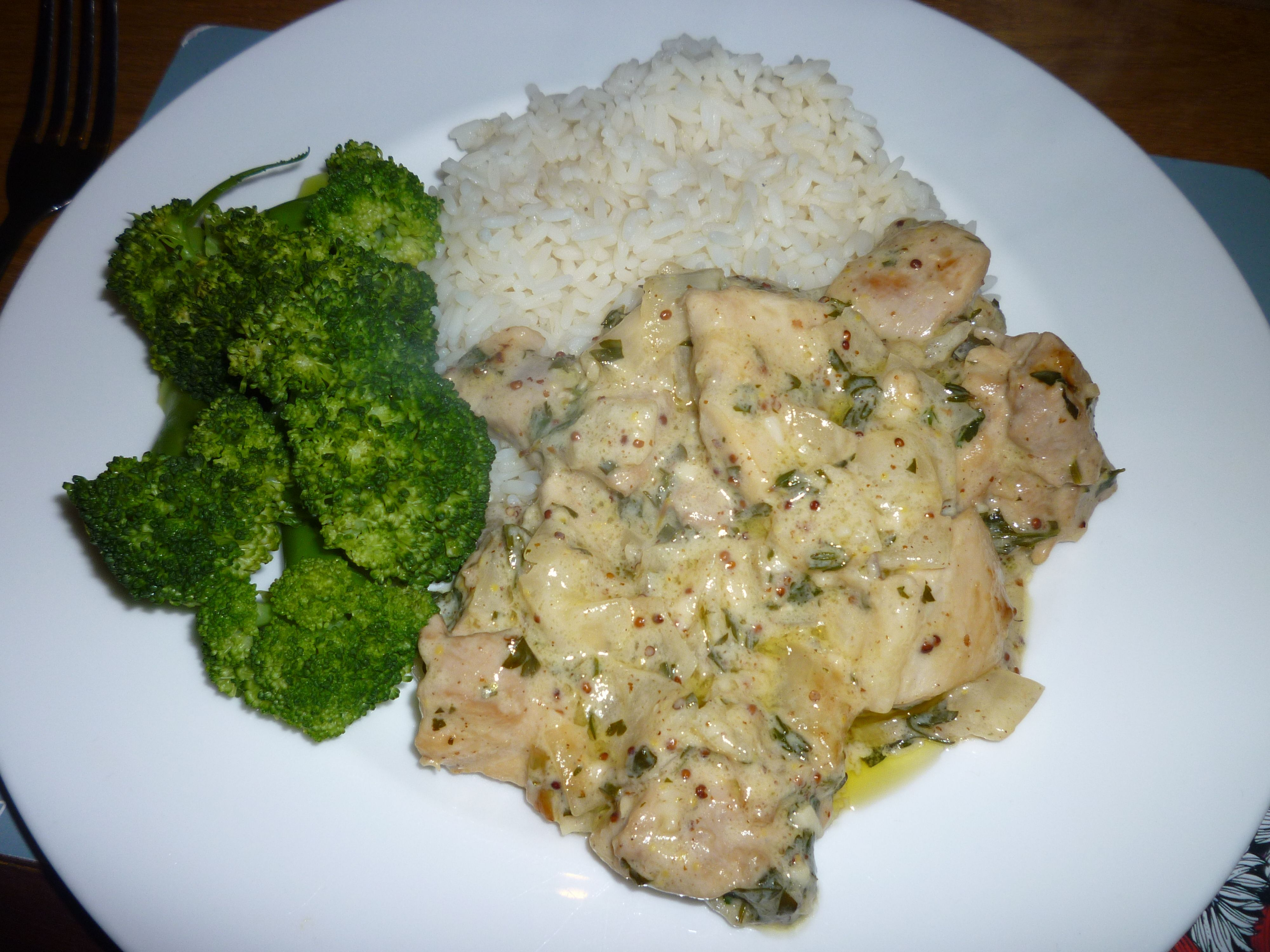 Cider mustard and herb chicken served with rice and broccoli this cider mustard and herb chicken served with rice and broccoli this was so forumfinder Gallery