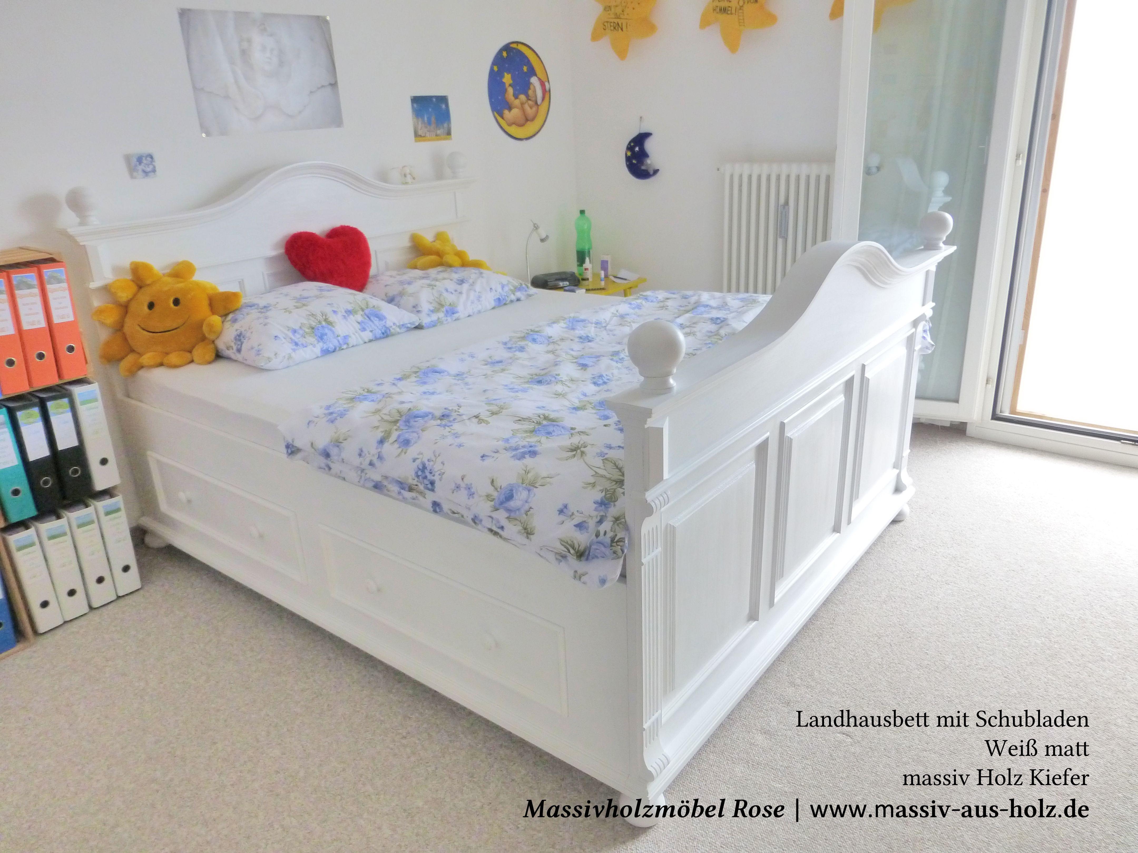 Einfache Dekoration Und Mobel Mehr Entspannung Im Schlafzimmer Mit Betten Im Landhausstil #20: Natürliche Massivholzmöbel In Kiefer - MASSIV AUS HOLZ