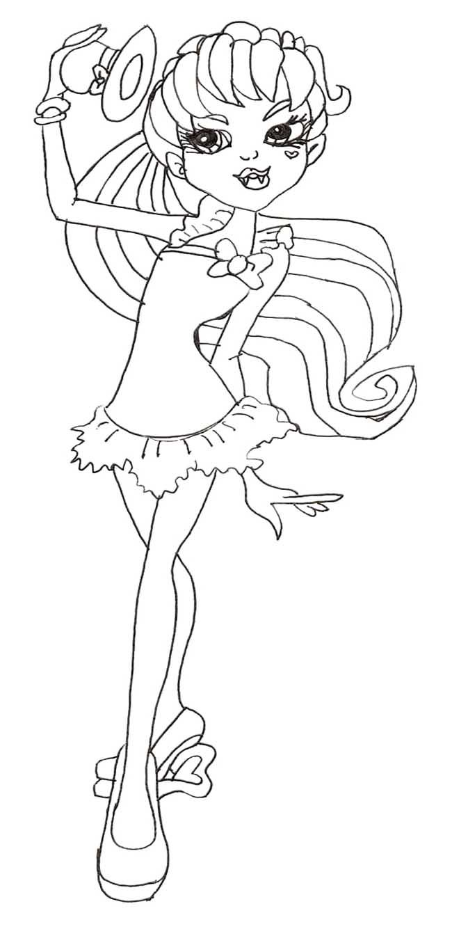 Sweet Draculaura Coloring Page