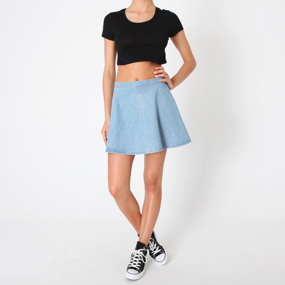 Less-flounciness-than-average is a win! Denim Skater Skirt - General Pants Co.