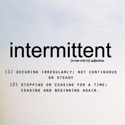 intermit relationship definition webster