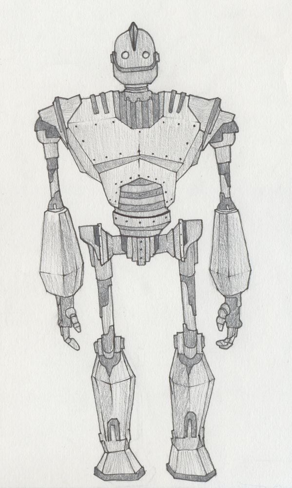 Iron Giant Sketch By Marksosbe Deviantart Com On Deviantart With