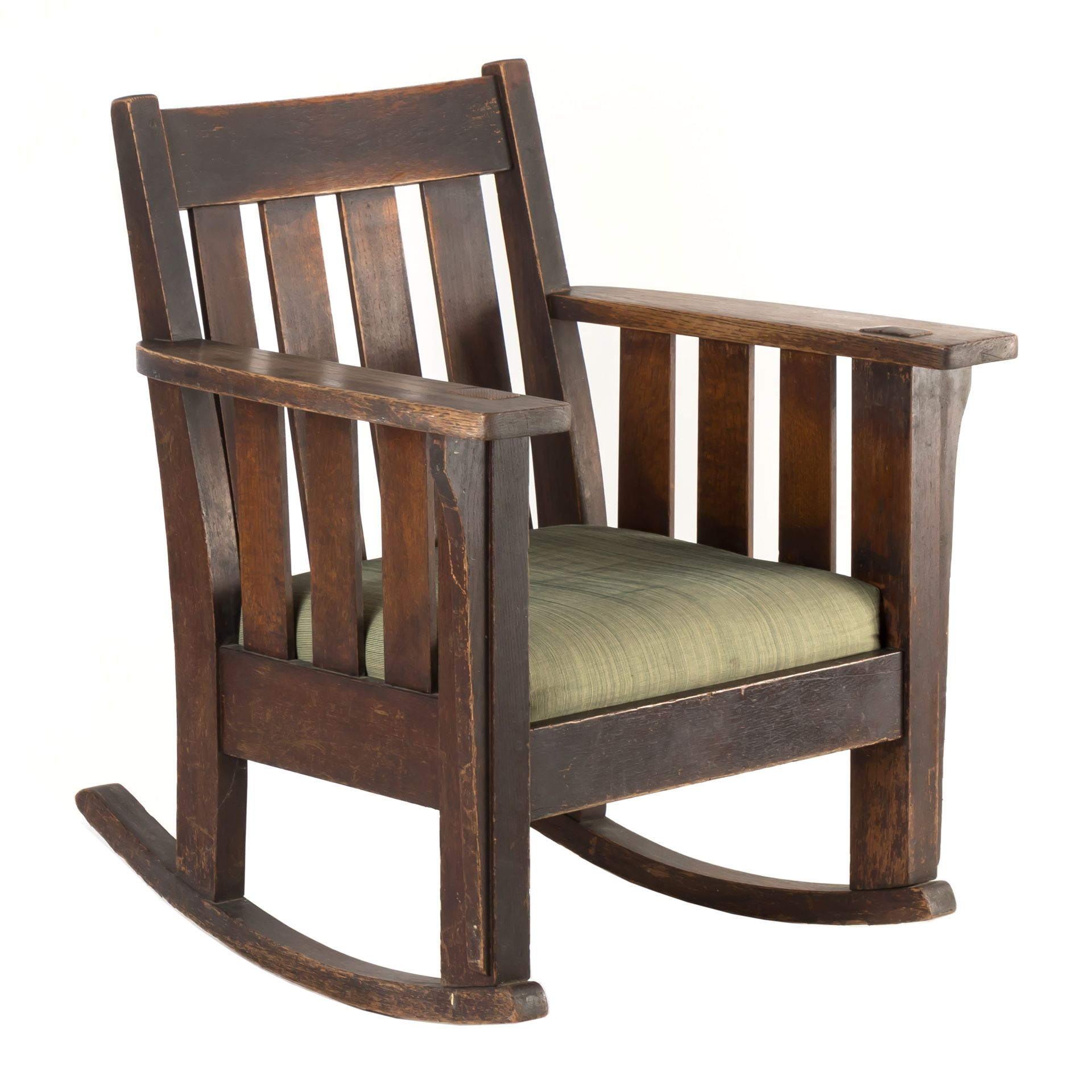 This Early 20th Century Mission Style Rocking Chair Is Done In The