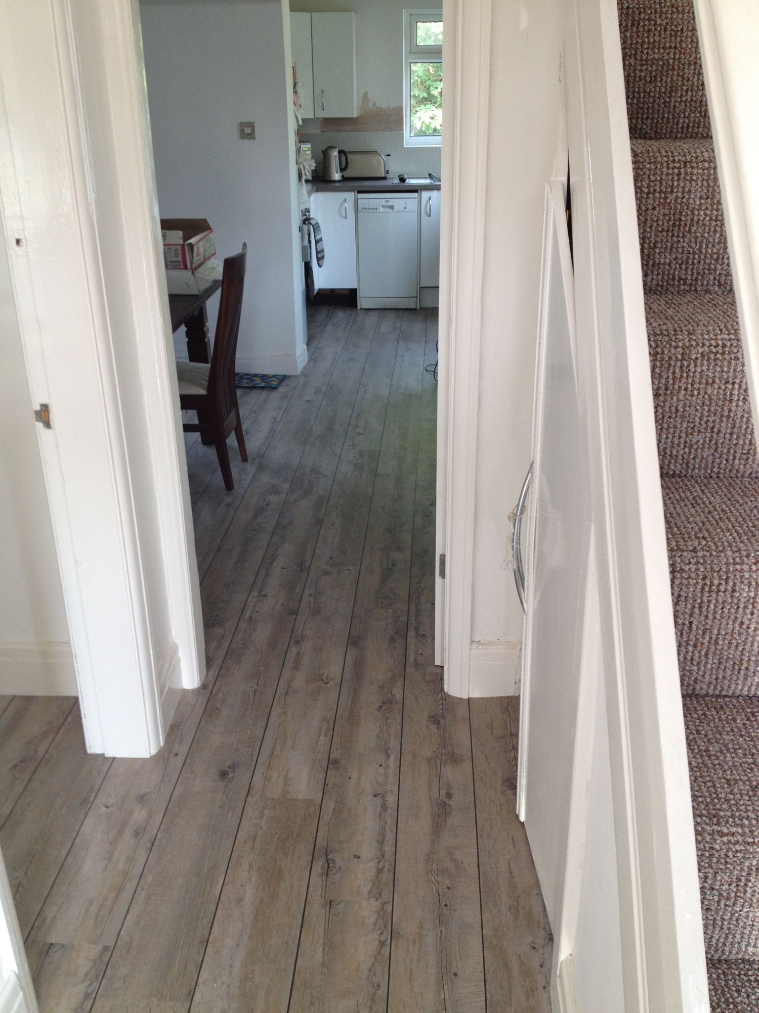 Karndean van gogh distressed oak with a feature strip to give a luxury vinyl tile flooring practical versatile this vinyl flooring is suitable for every room dailygadgetfo Images