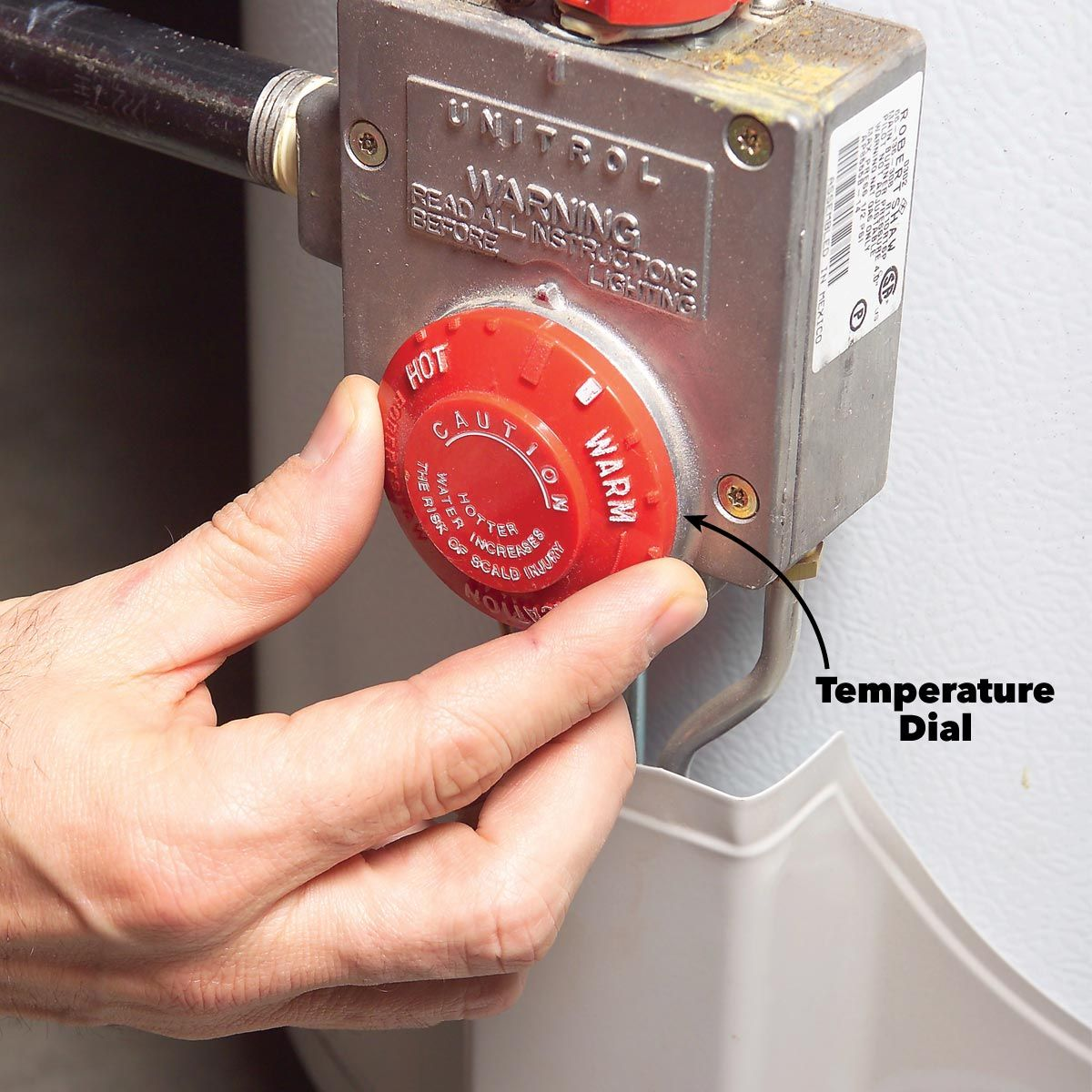 How To Adjust Water Heater Temperature Hot Water Heater Water Heater Water Heater Repair