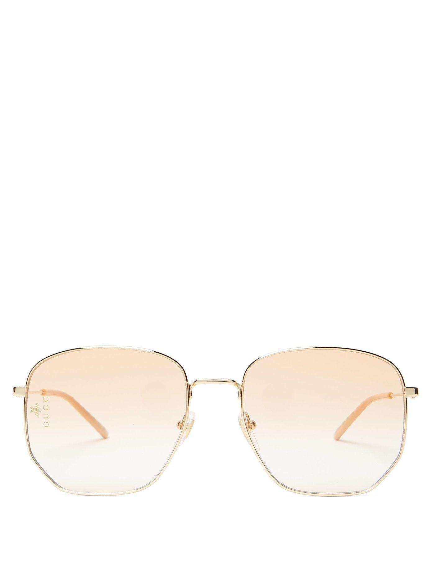 45e525ee5e Square-frame metal glasses
