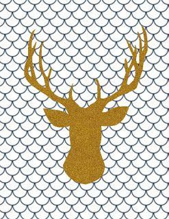 Free Printable: glitter animal silhouette