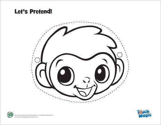 LeapFrog Touch Magic Baby Animal Masks Monkey Mask Hippo