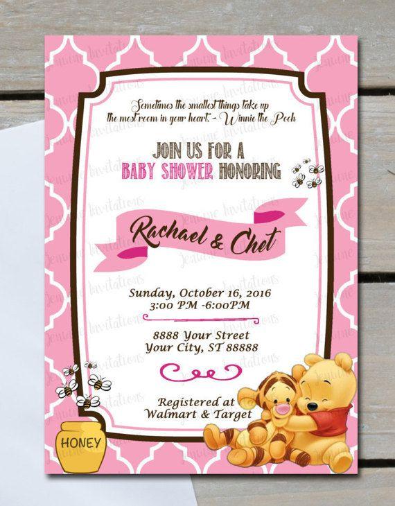 Winnie the pooh girl baby shower invitations pooh girl baby girl winnie the pooh girl baby shower invitations pooh girl baby filmwisefo