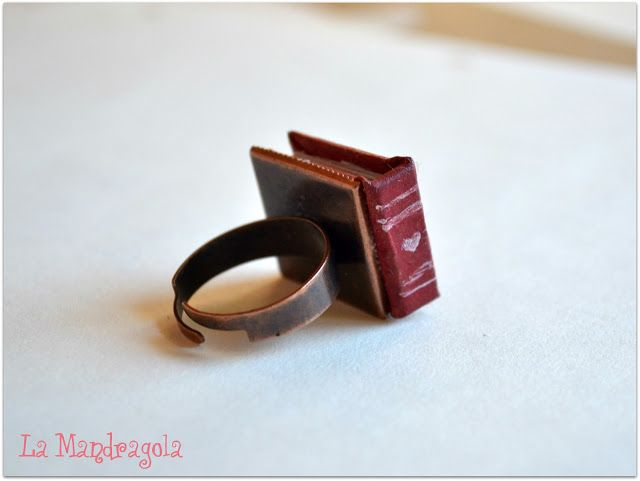 #book #ring #handmade