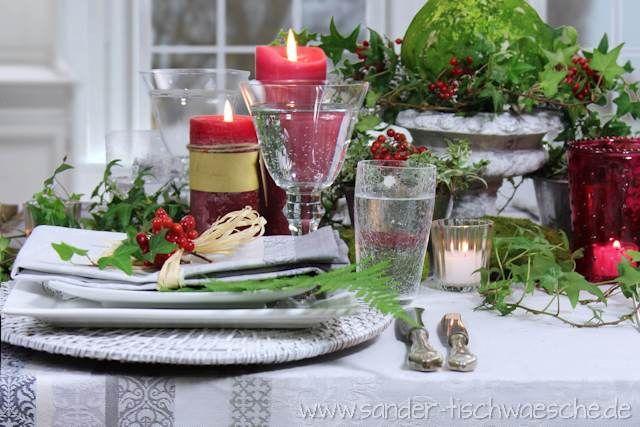 tischdeko rote kerzen efeu herbst romantisch weihnachten pinterest efeu romantisch und. Black Bedroom Furniture Sets. Home Design Ideas