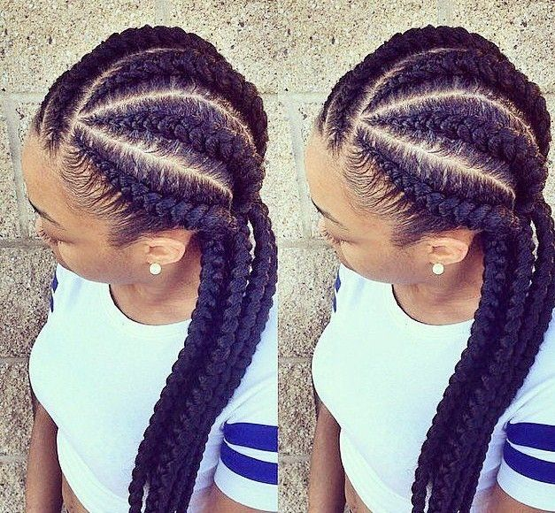 How To Rock Ghana Braids With Natural Hair Ghana Braids