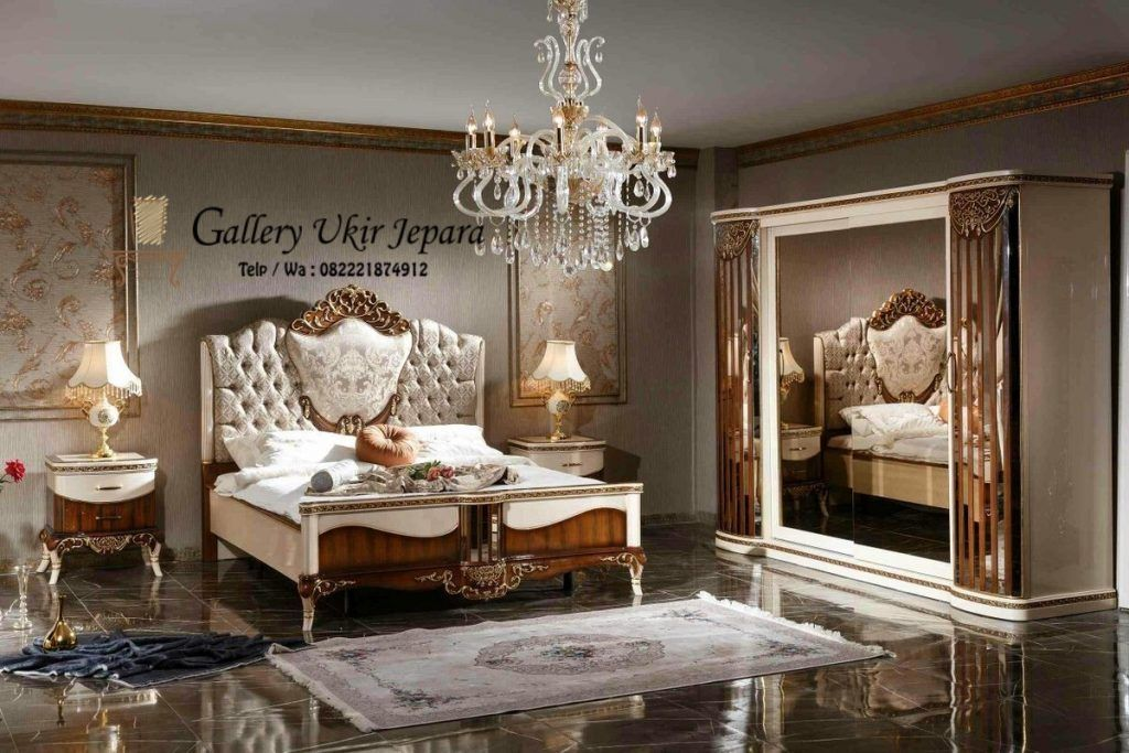 Model Set Kamar Tidur Utama Jati Duco Mewah Terbaru Jual Meubel Luxurious Bedrooms Bedroom Furniture For Sale Furniture