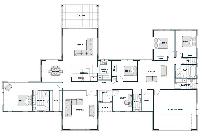 Kawaraustatic Stonewood Homes Nz House Blueprints Bedroom House Plans Modern House Plans