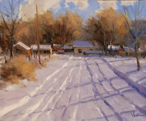 "A Snow Day; Dan Young; Oil - 10"" x 12"""