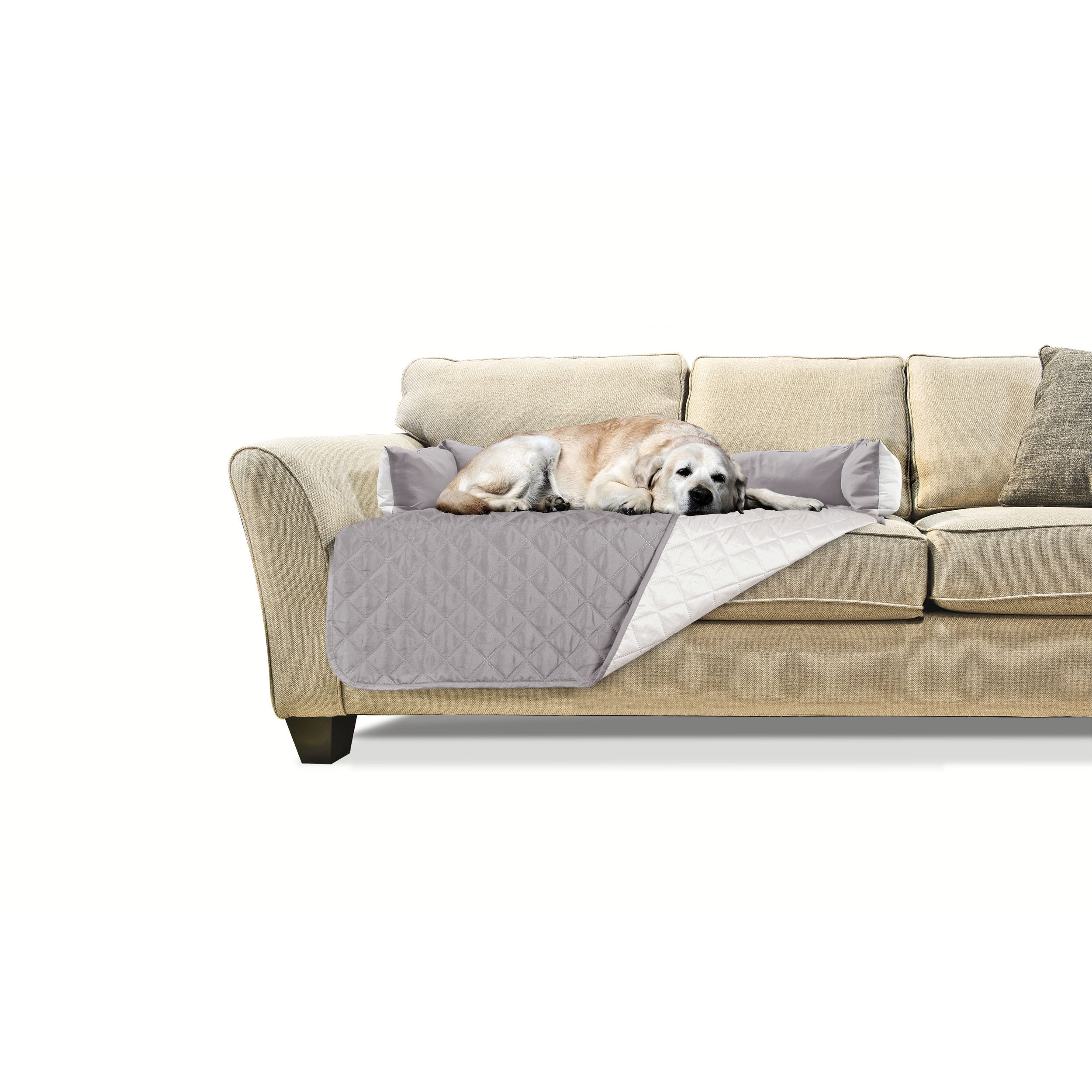 Awesome Furhaven Sofa Buddy Pet Bed Furniture Cover Small Machost Co Dining Chair Design Ideas Machostcouk